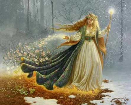 In honor of Imbolc - Brigid, celtic goddess of fire brings hints of Spring