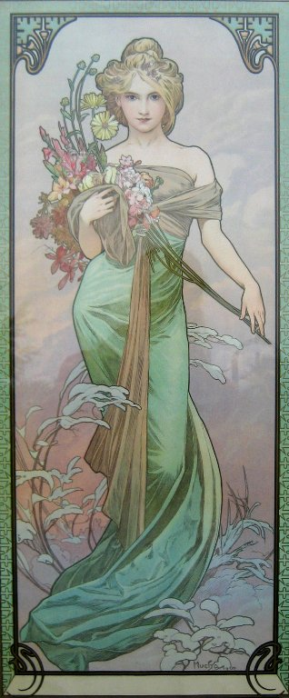 Printemps by Alphonse Mucha